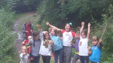 Some pictures from m summer clubs at Whitelands woods.
